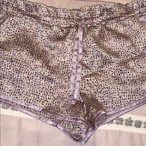 Victoria's Secret satin, drawstring pajama shorts